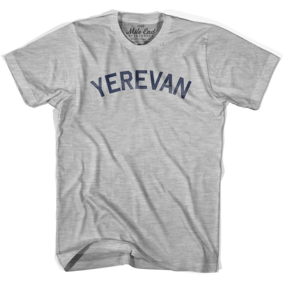 Yerevan City Vintage T-shirt - Grey Heather / Youth X-Small - Mile End City