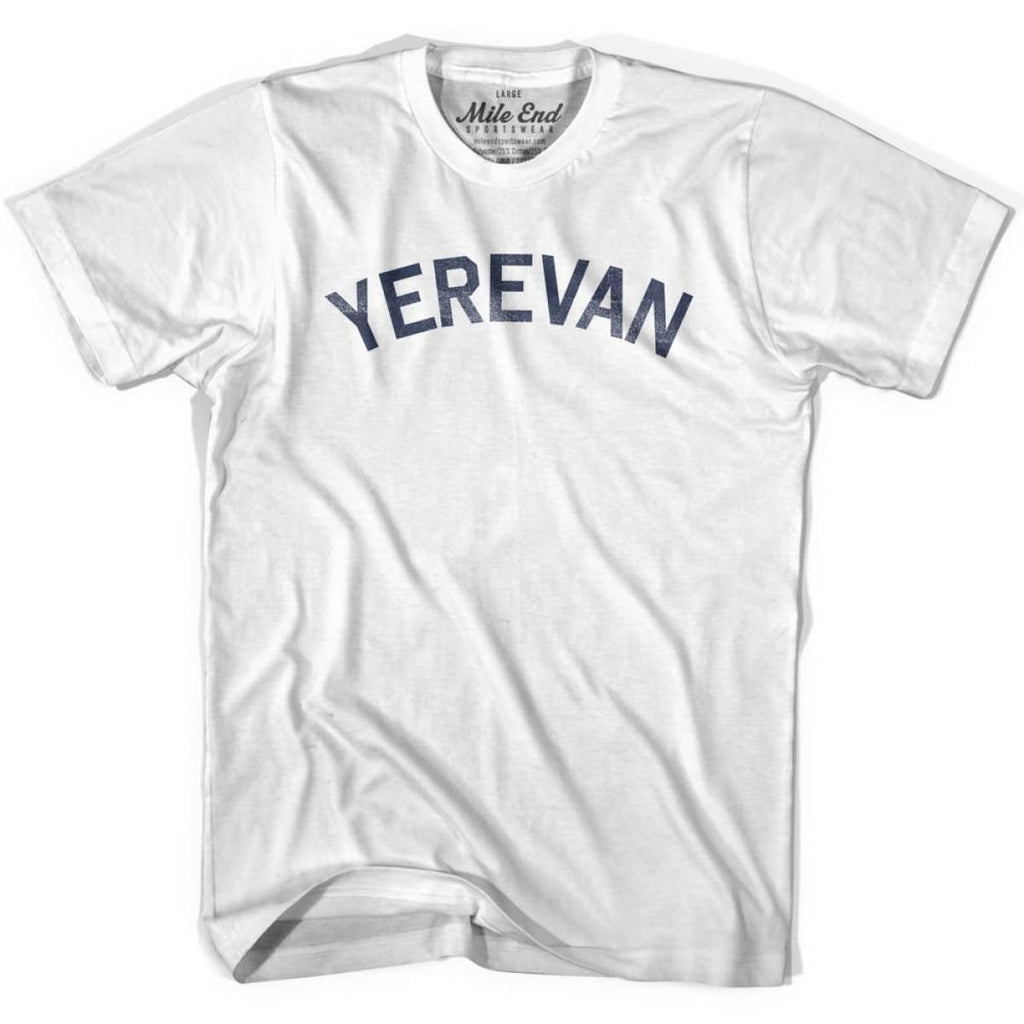 Yerevan City Vintage T-shirt - White / Youth X-Small - Mile End City