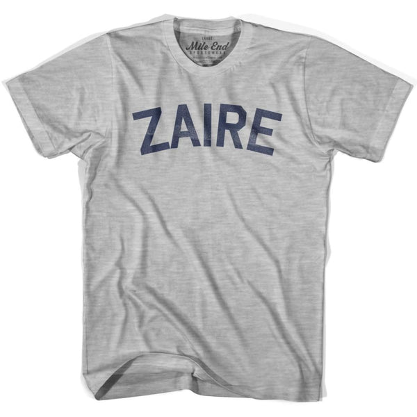 Zaire City Vintage T-shirt - Grey Heather / Youth X-Small - Mile End City