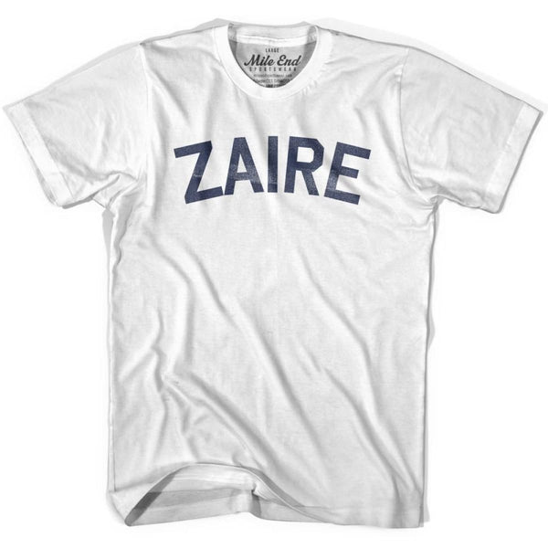 Zaire City Vintage T-shirt - White / Youth X-Small - Mile End City