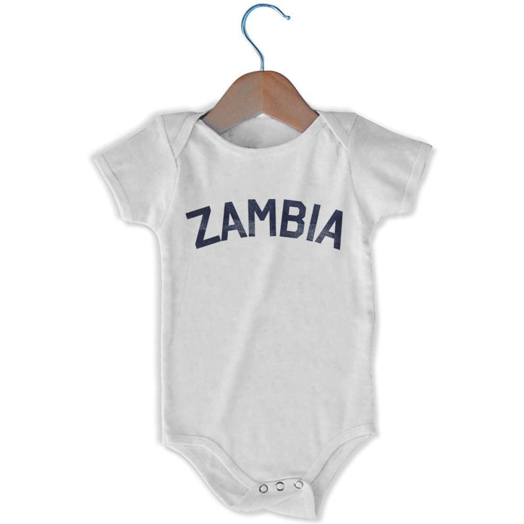 Zambia City Infant Onesie - White / 6 - 9 Months - Mile End City