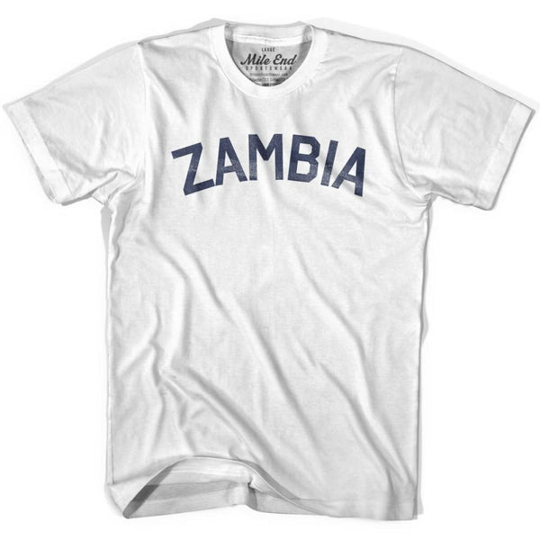 Zambia City Vintage T-shirt - White / Youth X-Small - Mile End City