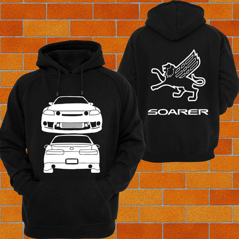 Toyota Soarer Z30 Front and Back Hoodie (griffin) - Chaotic Customs