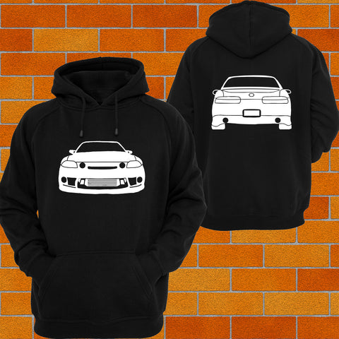 Toyota Soarer Z30 Front and Back Hoodie - Chaotic Customs