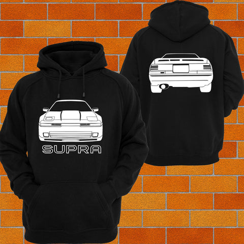 Toyota Supra A70 Facelift Front and Back Hoodie - Chaotic Customs