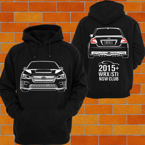 2015+ WRX Sti Car Club Hoodie - Chaotic Customs
