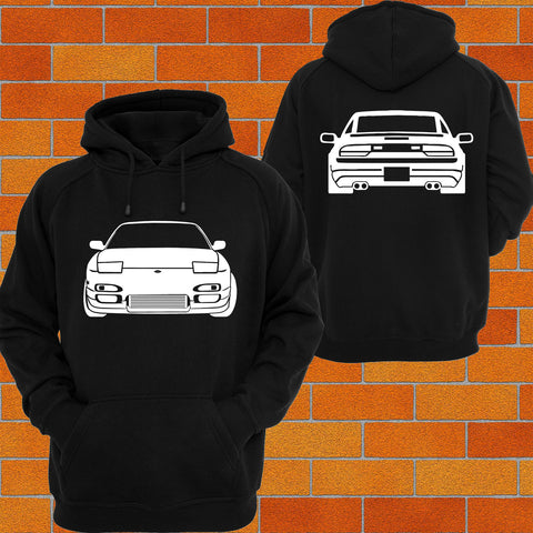 Nissan S13 180SX Front and Back Hoodie - Chaotic Customs