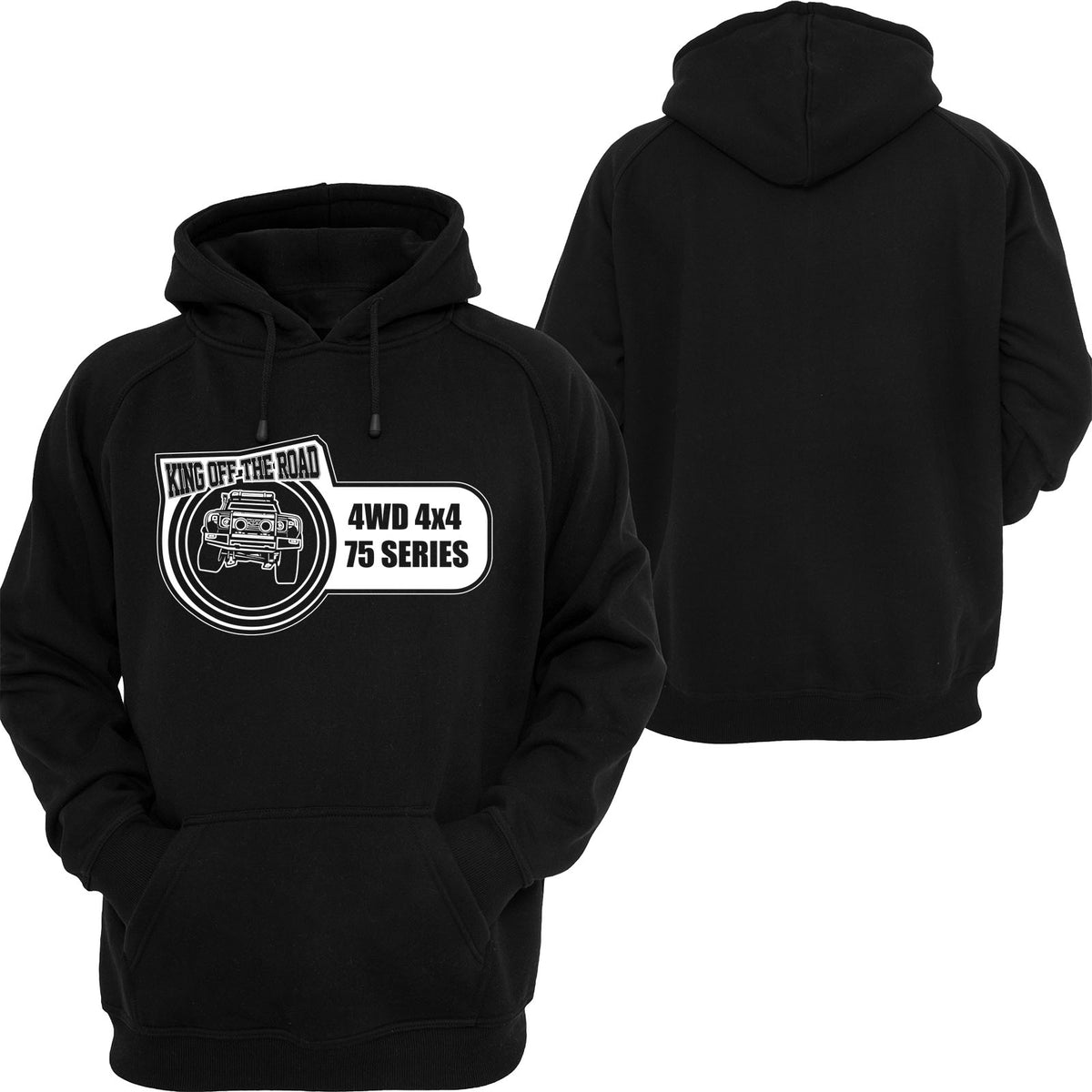 Landcruiser 75 Series King Off The Road Hoodie / Tshirt / Singlet - Chaotic Customs