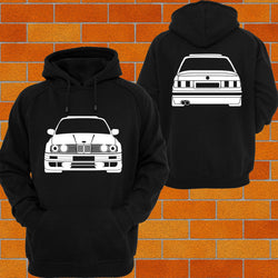 BMW e30 Front and Back Hoodie - Chaotic Customs