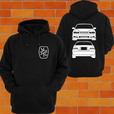 Toyota Chaser JZX100 Front & Back Hoodie (logo) - Chaotic Customs