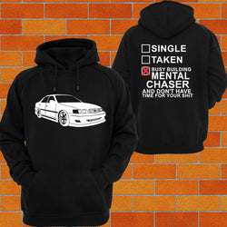 Toyota Chaser JZX100 Hoodie (angle) - Chaotic Customs