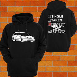 Honda Civic EK / EM Hoodie or Tshirt/Singlet - Chaotic Customs