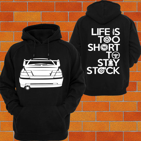 Mitsubishi EVO VI (rear) Hoodie or Tshirt/Singlet - Chaotic Customs