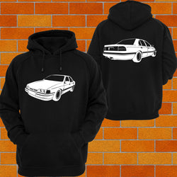 Ford EA EB ED Falcon XR6 Front & Back Hoodie - Chaotic Customs