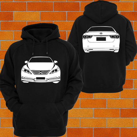 Toyota Mark X Front & Back Hoodie - Chaotic Customs