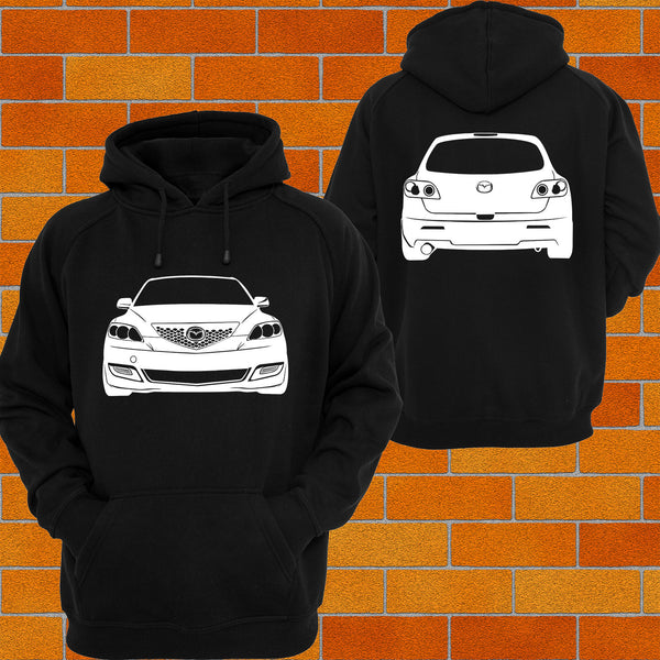 Mazda 3 BK Front and Back Hoodie - Chaotic Customs