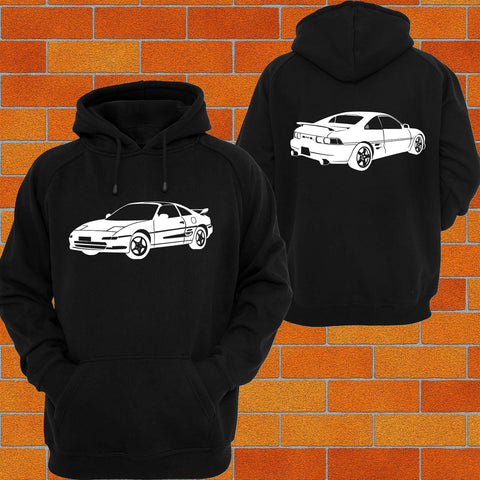 Toyota MR2 Front & Back Hoodie - Chaotic Customs