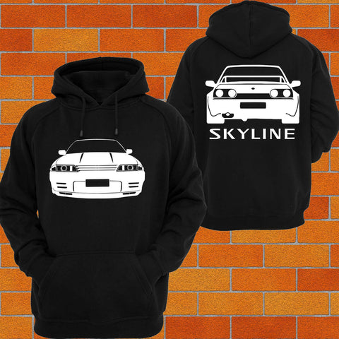 Nissan R32 Skyline Front and Back Hoodie - Chaotic Customs
