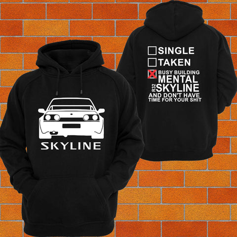 Nissan R32 Skyline Hoodie (back) - Chaotic Customs