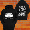 Nissan R32 Skyline Hoodie (front) - Chaotic Customs