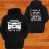 Nissan R33 Skyline Hoodie (back) - Chaotic Customs