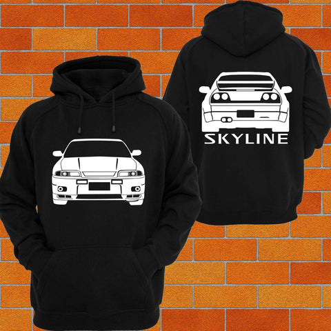 Nissan R33 Skyline Front and Back Hoodie - Chaotic Customs