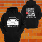 Nissan R34 Skyline Hoodie (back) - Chaotic Customs