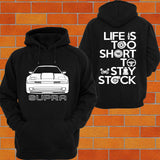 Toyota Supra A70 Facelift Hoodie (Front) - Chaotic Customs