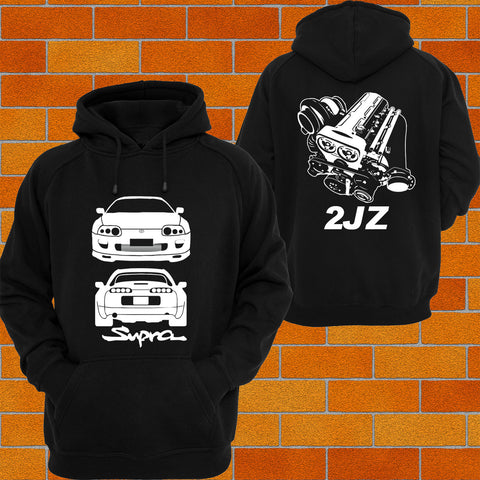 Toyota Supra MKIV Front and Back Hoodie 2JZ - Chaotic Customs
