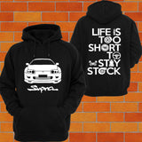 Toyota Supra MKIV Hoodie (front facing) - Chaotic Customs