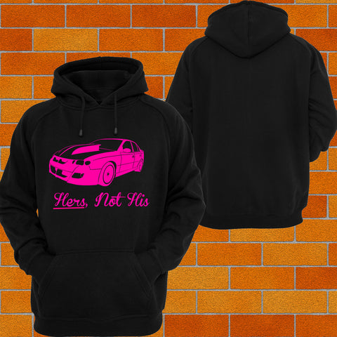 VT VX Clubsport (Side) - HERS NOT HIS Hoodie or Tshirt/Singlet - Chaotic Customs