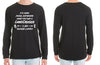 Social Distancing is hard LANDCRUISER Long Sleeve Tshirt - Chaotic Customs