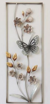 Wall Art: Butterfly and Blossoms in Frame