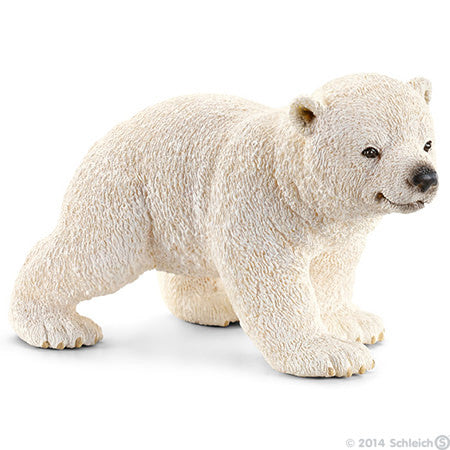 Schleich - Polar bear, cub, walking