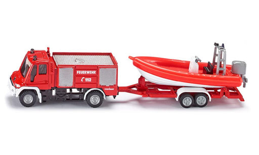 Siku Super - Unimog Fire Engine with Boat #1636