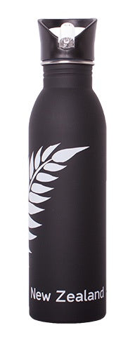 NZ S/S Drink Bottle - Black Fern