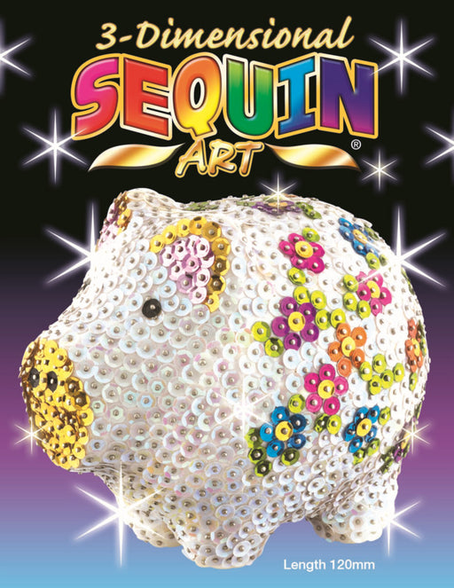 3D Sequin Art - Pig