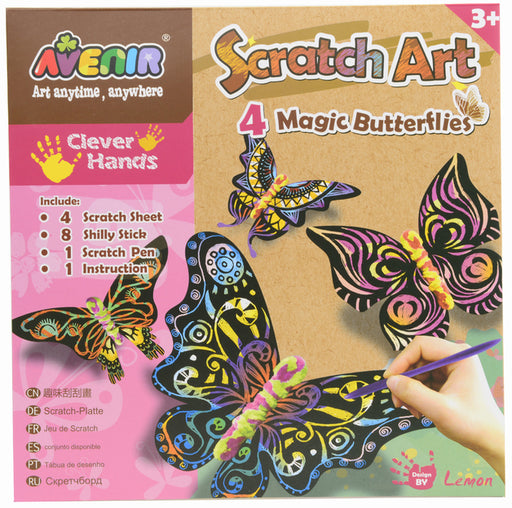 Avenir: Scratch Kit - 4 Magic Butterflies