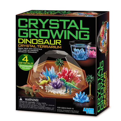 4M - Crystal Growing Dinosaur Crystal Terrarium