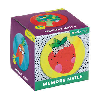 Mudpuppy - Fruits & Veggies Mini Memory Match Game