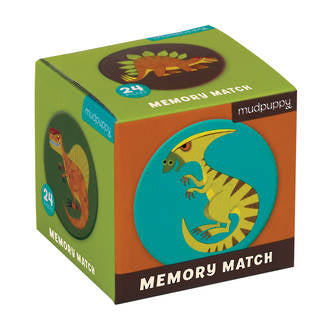 Mudpuppy - Mighty Dinosaurs Mini Memory Match Game