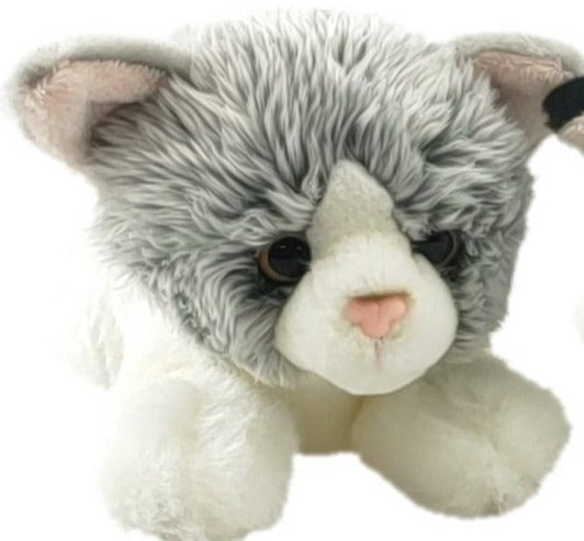Antics: Snuggle Pals - Kitten Grey and White 20 cm