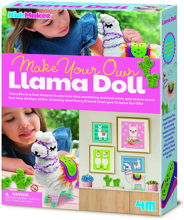 4M KidzMaker - Make Your Own Llama Doll