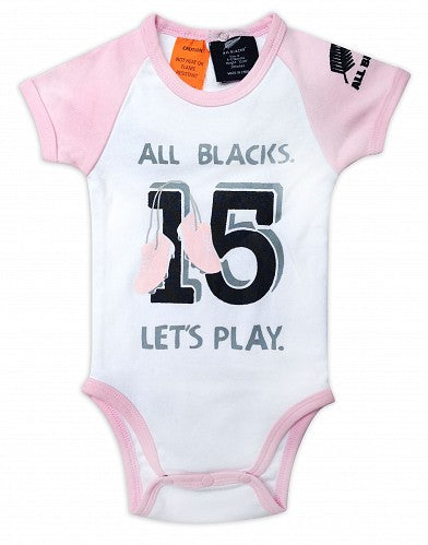 All Blacks Bodysuit No 15 Lets Play - Pink & White