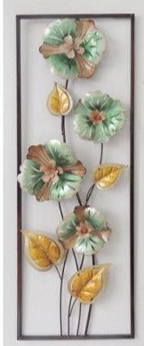 Wall Art: Aqua Flowers in Frame