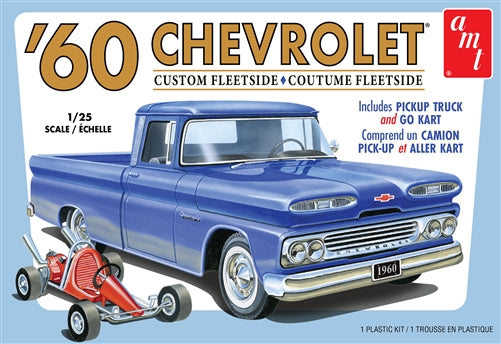 AMT - 1/25 1960 Chevy Fleetside Pickup with Go Kart Model Kit