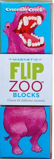 Crocodile Creek - World Animals Flip Zoo Magnetic Puzzle