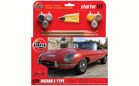 Airfix Starter Set - Jaguar E-Type 1:32