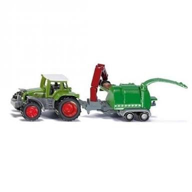 Siku Super - Tractor with Wood Chipper #1675