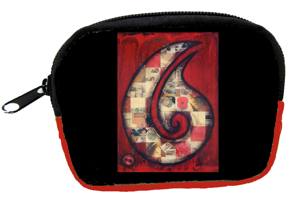 Wildside - Red Hei Matau Coin Purse